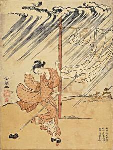 estampe japonaise vent