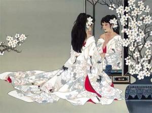Japonaise miroir