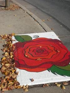 Blake Eames Claudia Michler Street art rose